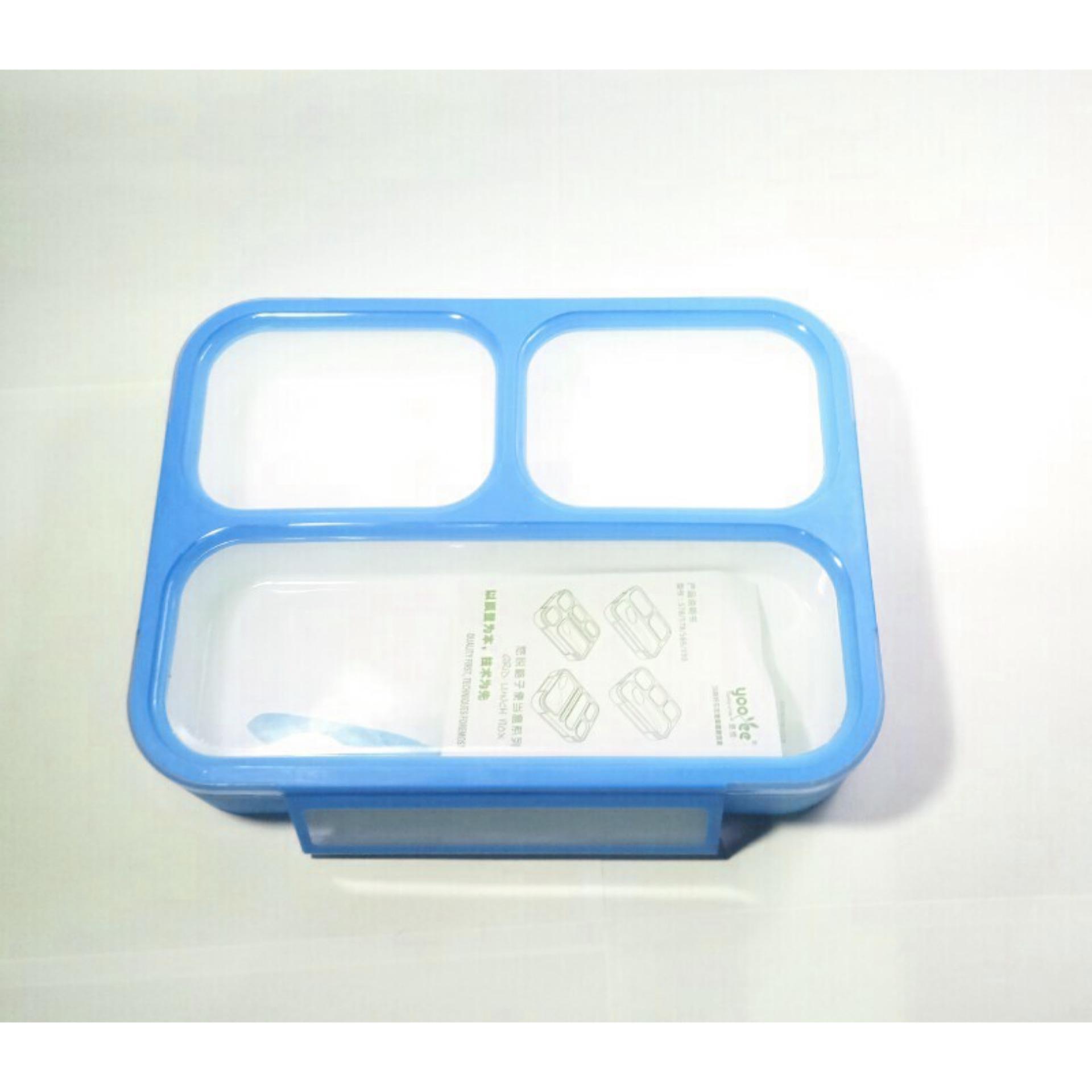 Cek Harga Baru Yooyee Mini Kotak Makan Grid Bento Lunch Box Anti New 578 Bekal Bocor 3 Sekat Tumpah
